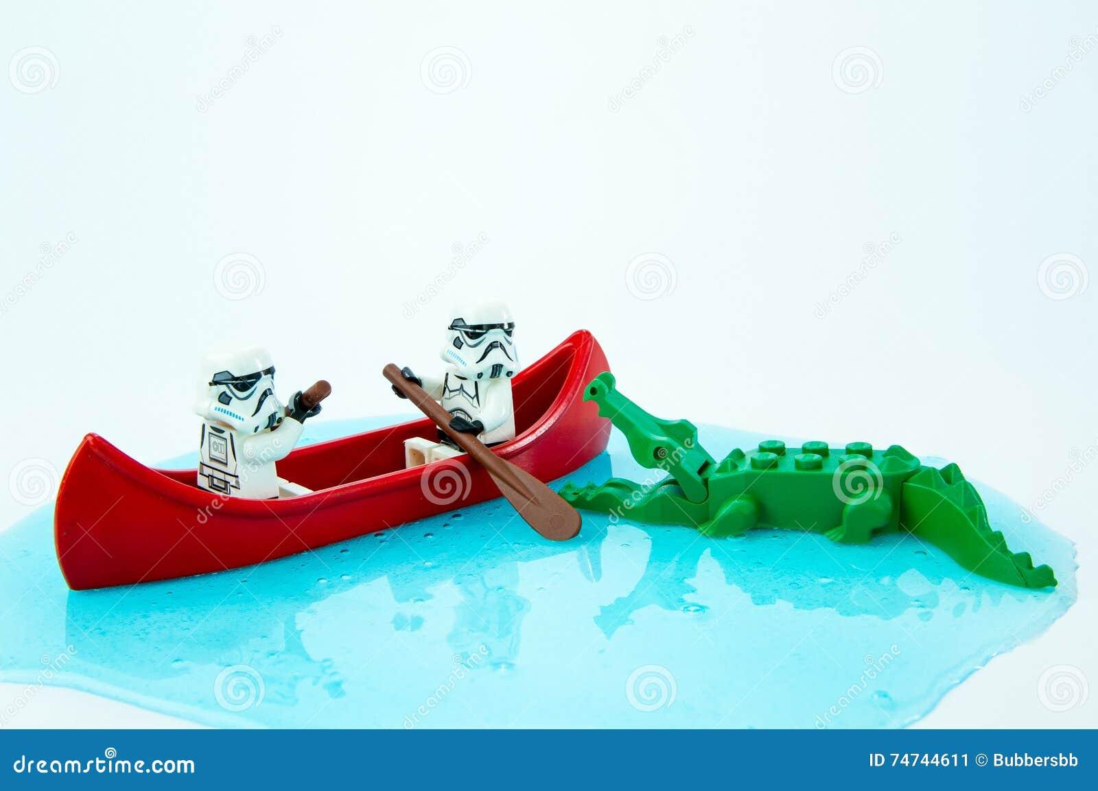 Mordedura escapada paleta del cocodrilo de las Guerras de las Galaxias de Lego