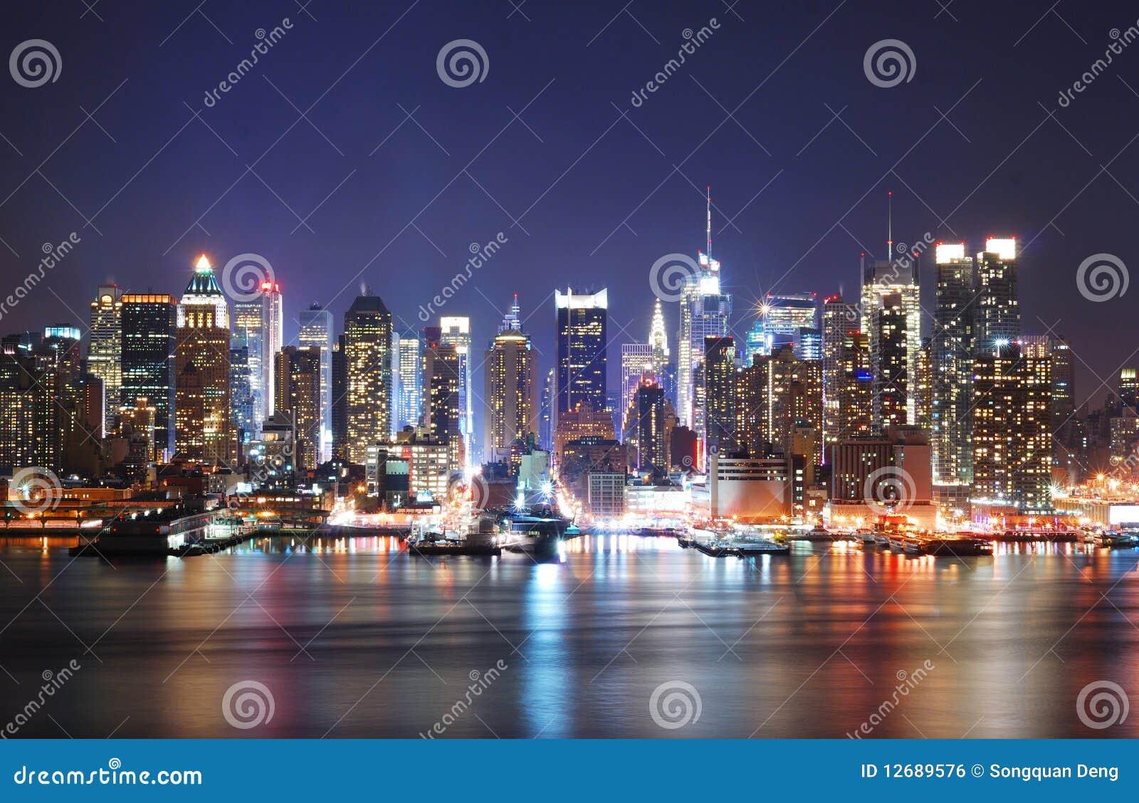 Mordern City night scene
