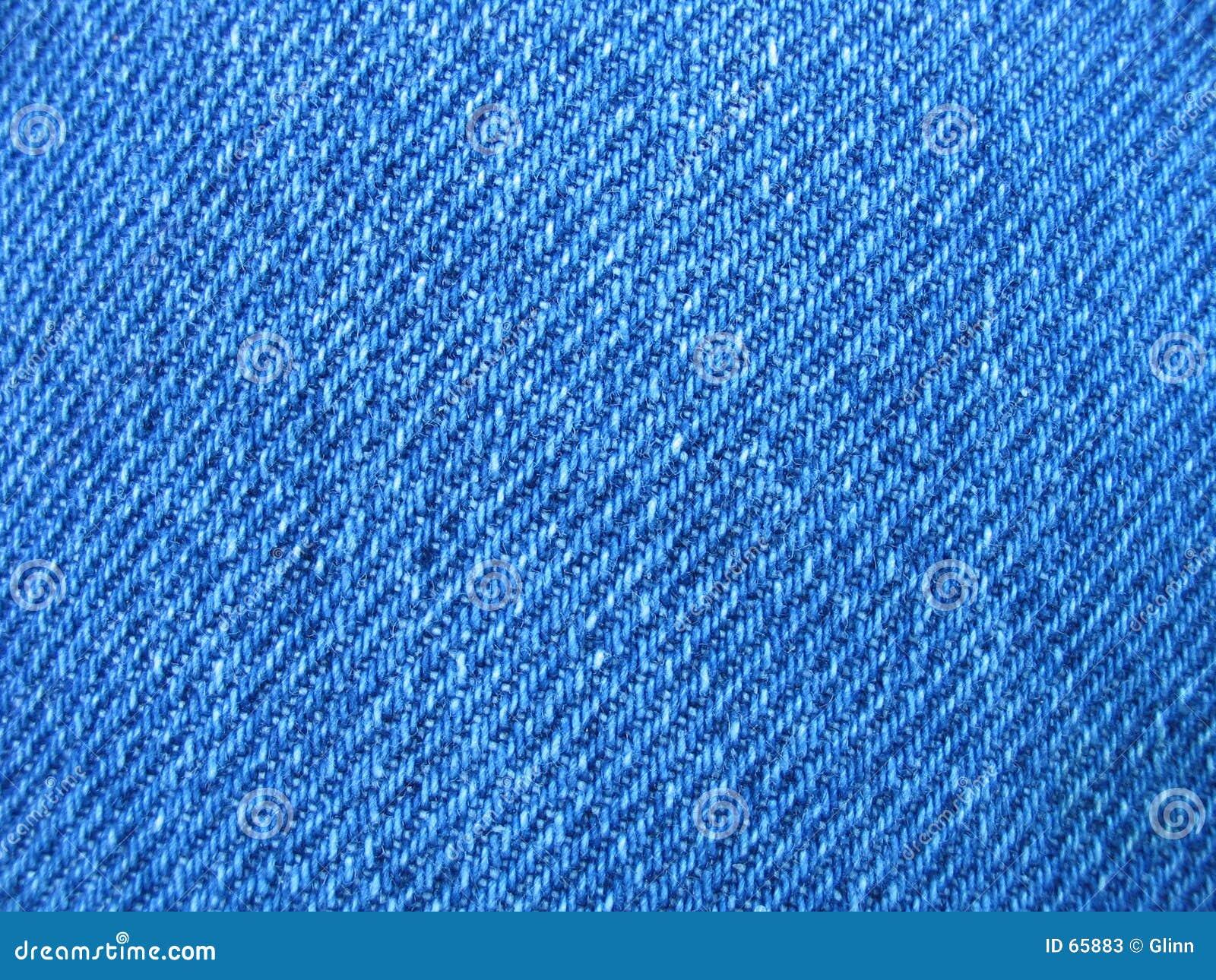 Mordido do brim azul