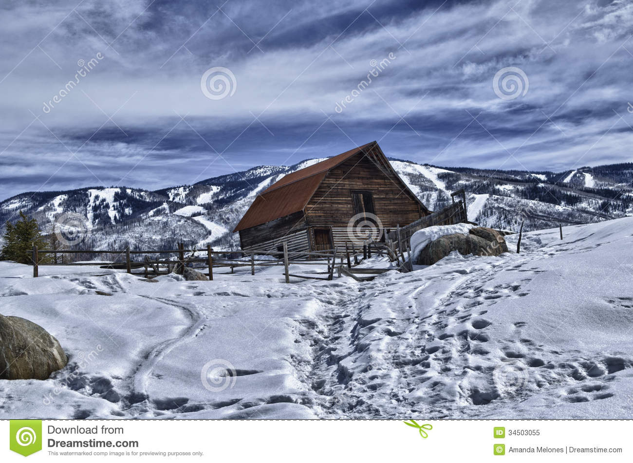 The More Barn In Hdr Royalty Free Stock Photo Image