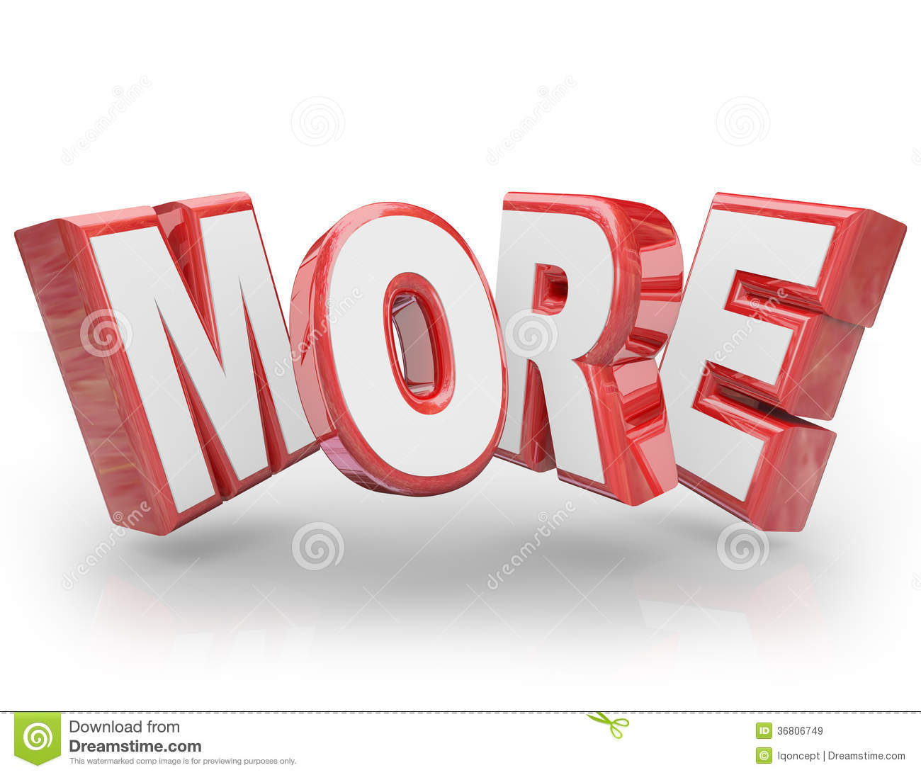 More 3d word increase improve larger bigger demand royalty for More com