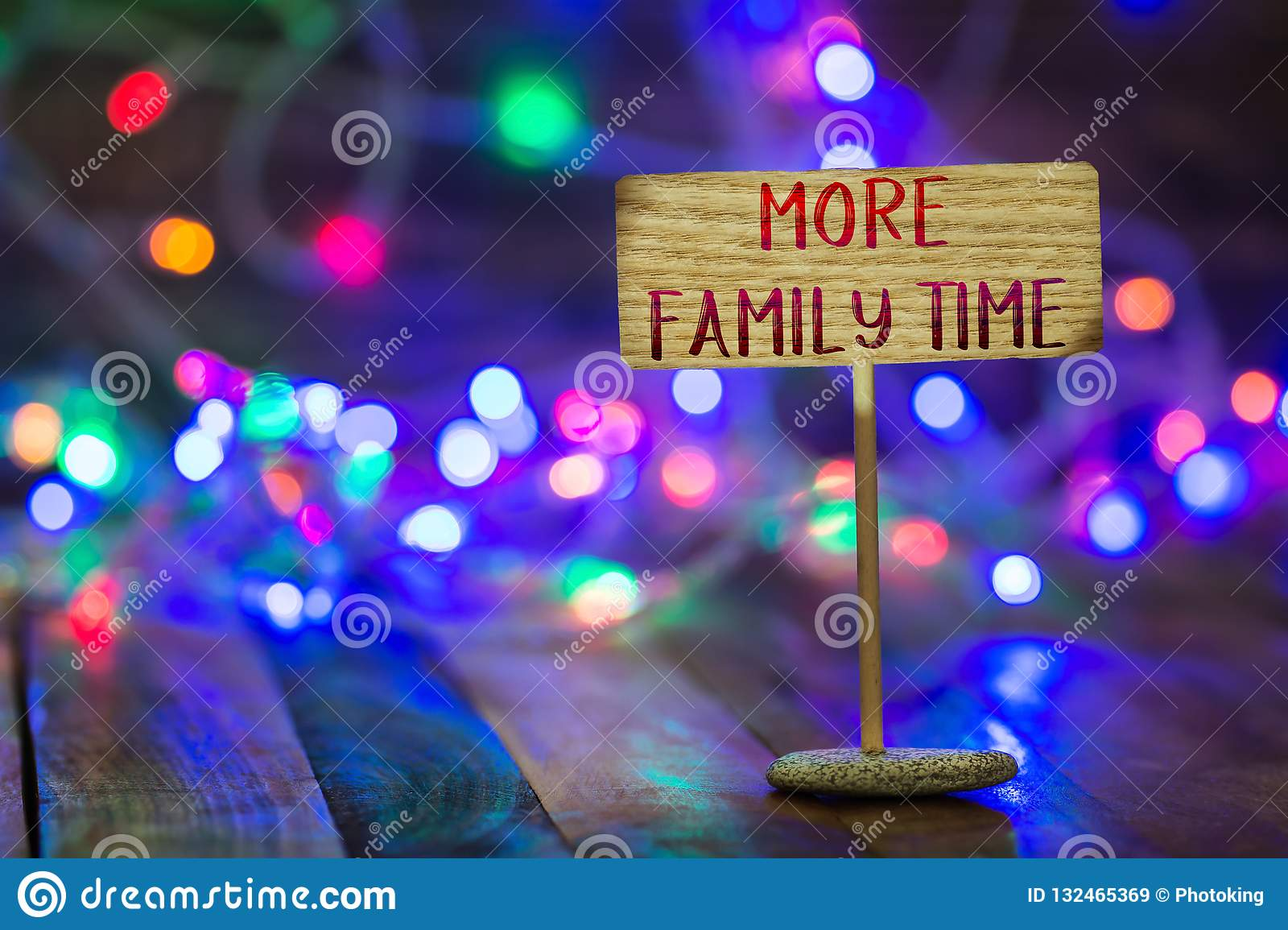 more family time on small sign board