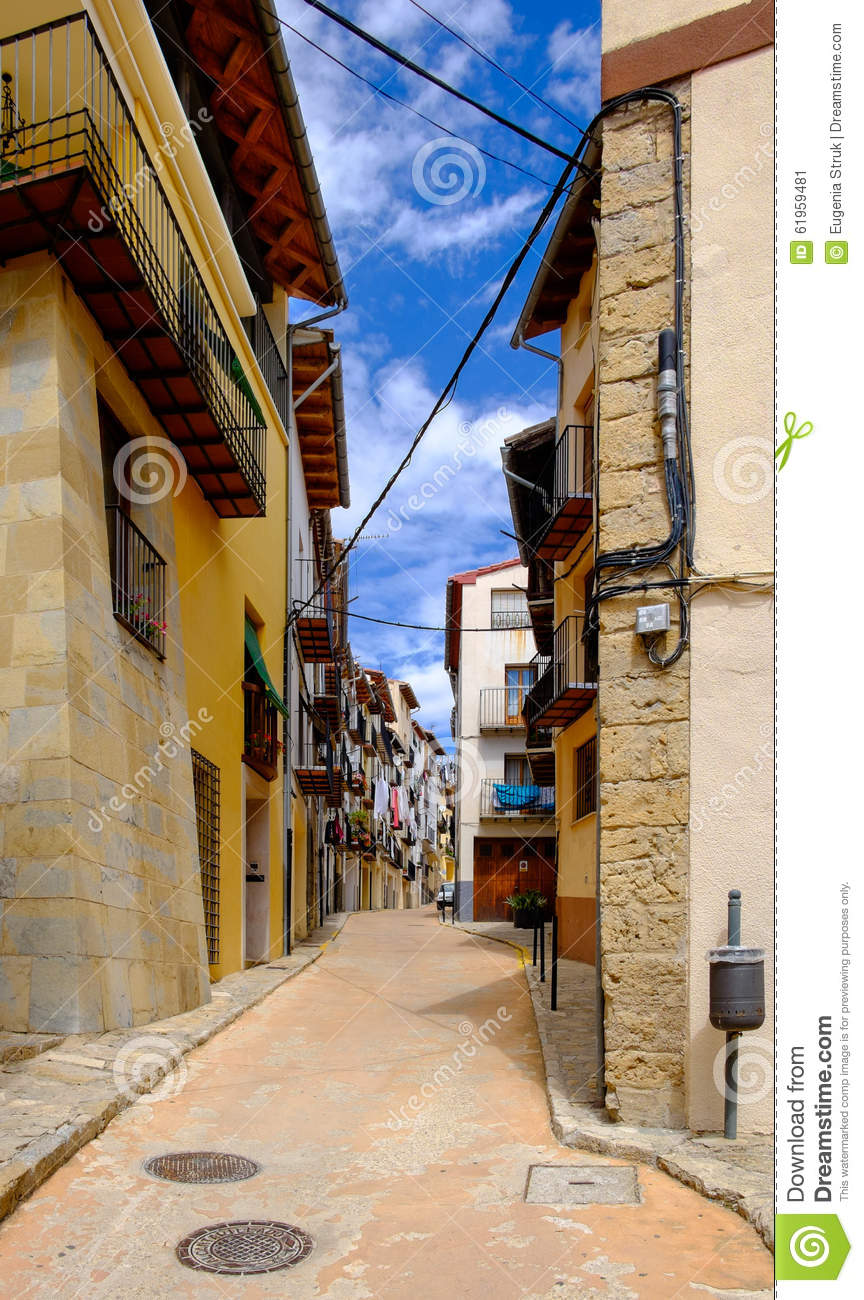 Narrow street morella stock image 2687695 - Best house castellon ...