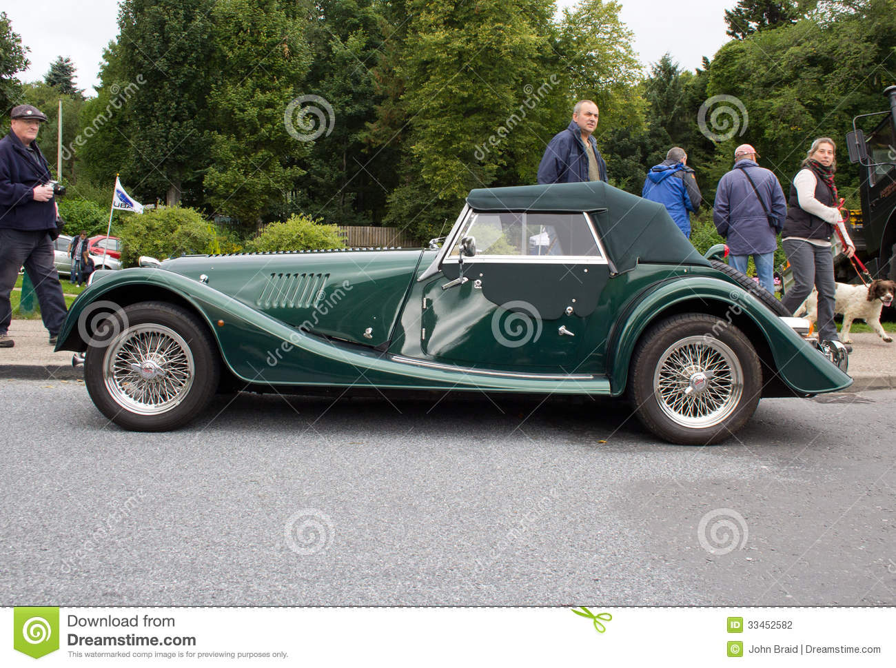 side view of a classic british sports car mr no pr no 0 397 0