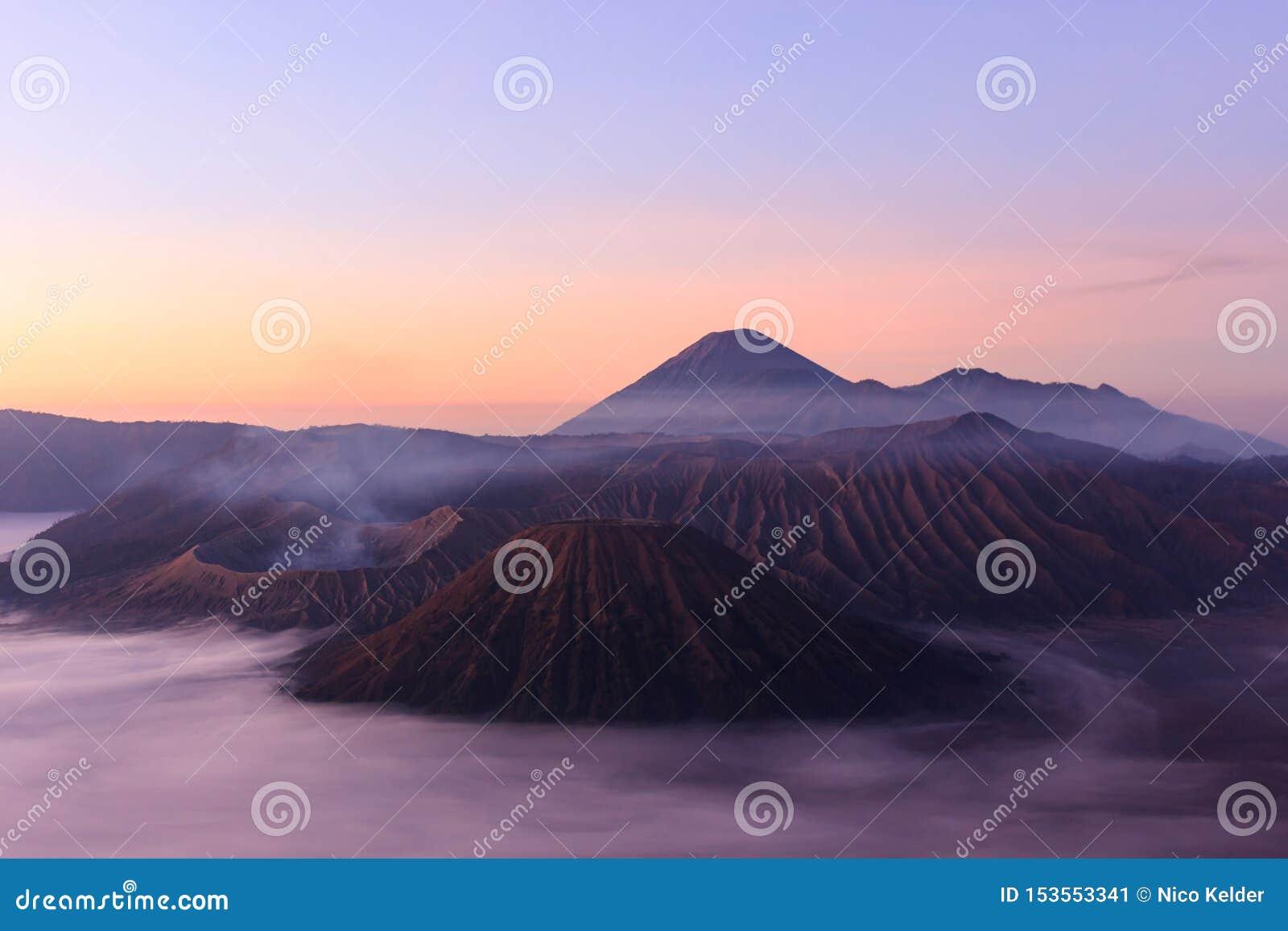 Morgenschuß von Gunung Bromo, Java, Indonesien