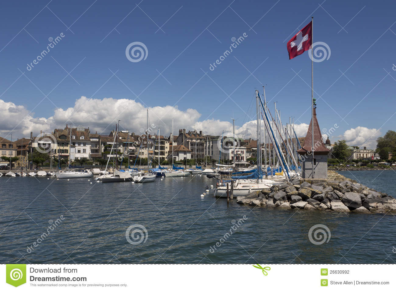 Morges Switzerland  city images : Morges Switzerland Stock Photography Image: 26630992