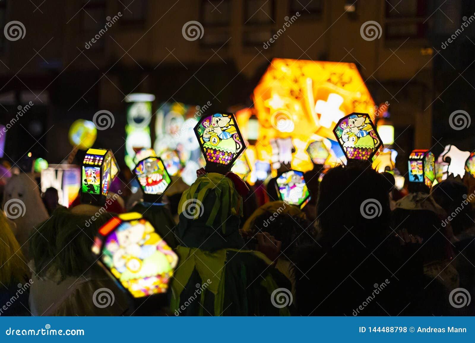 Morgestraichparade van Bazel Carnaval 2019