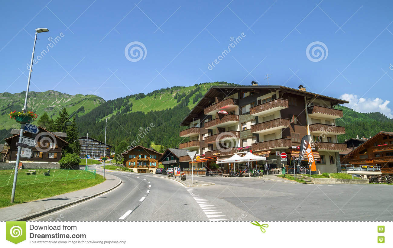 Morgins village switzerland editorial stock image image 73363879 - Portes du soleil horaires ...