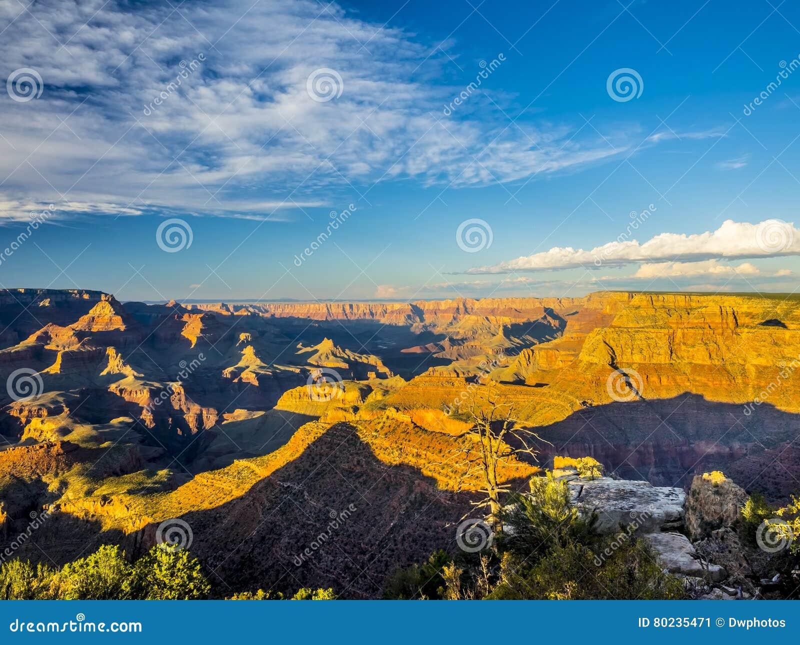 Morgonen tänder på grandet Canyon