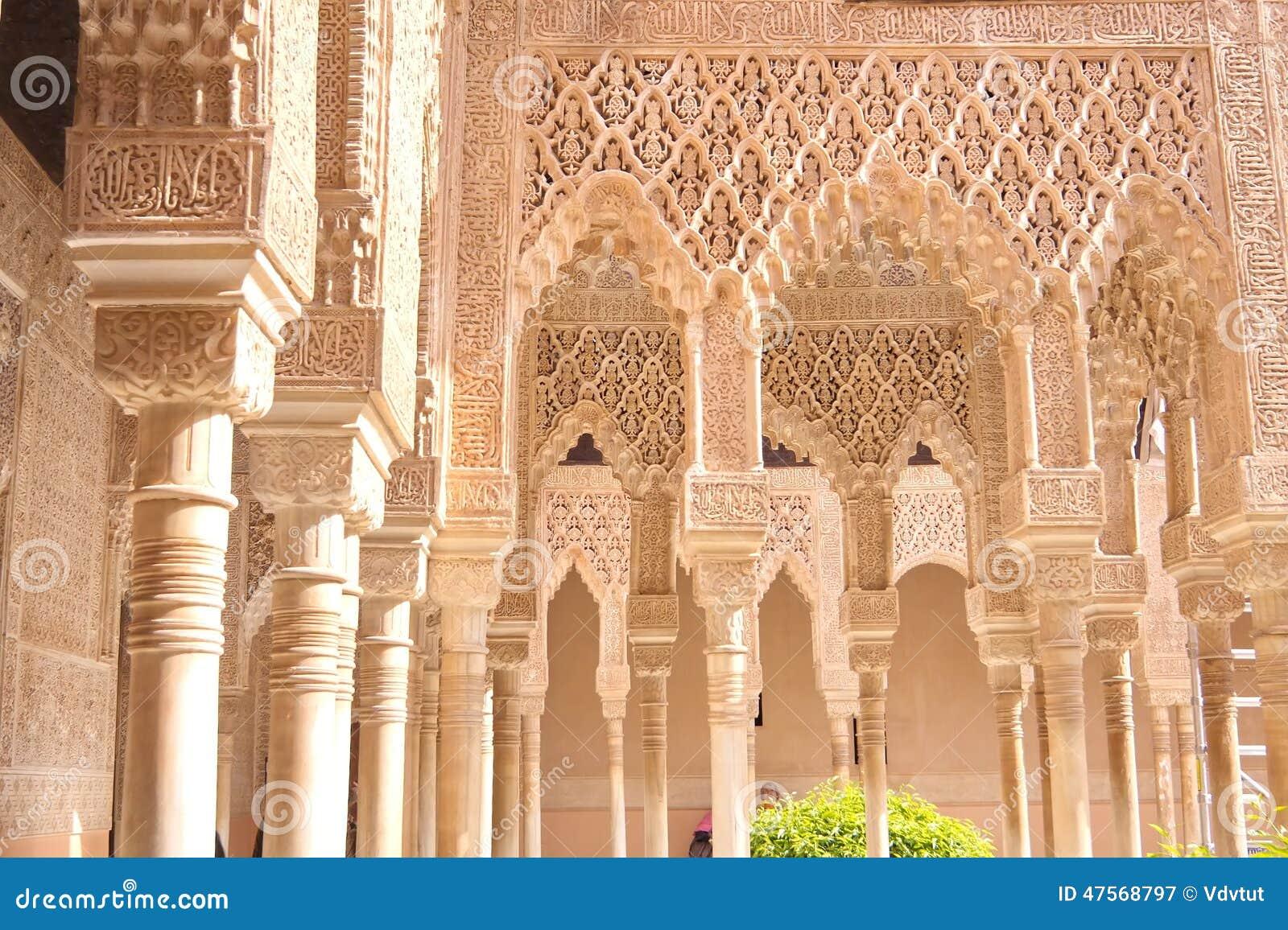Morisk slott, Granada, Spanien, Europa