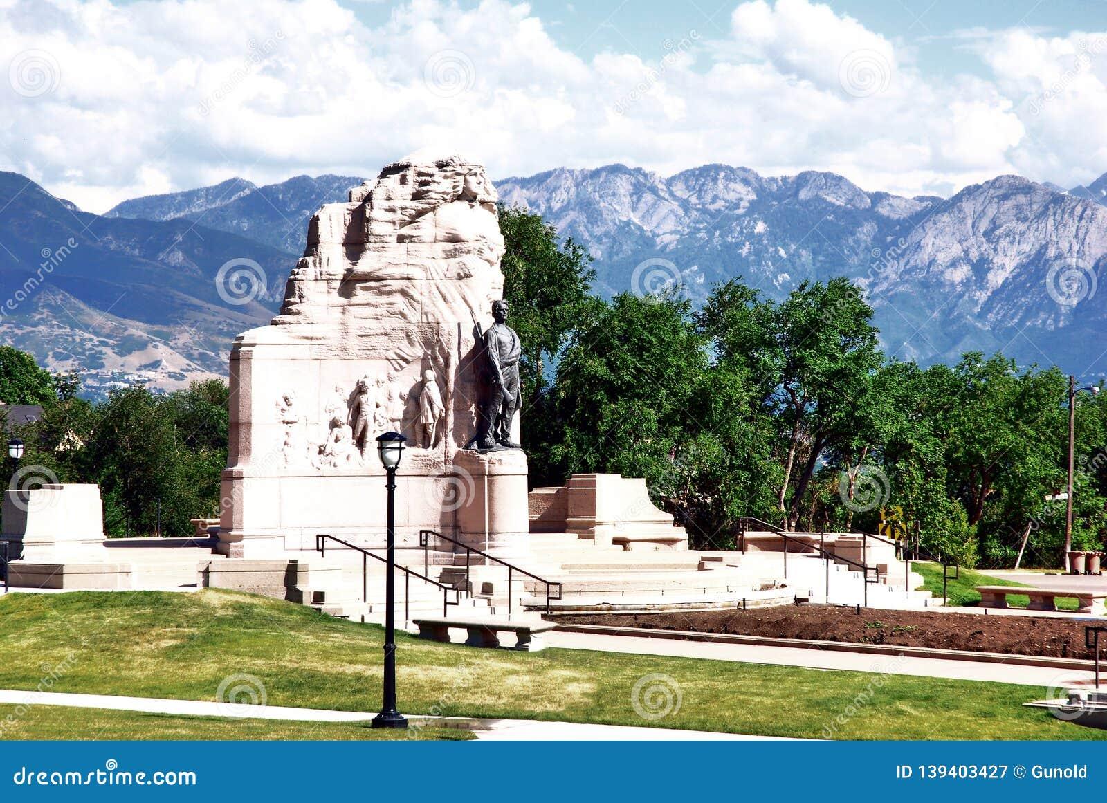 Panoramio - Photo of Mormon Battalion Monument, Salt Lake