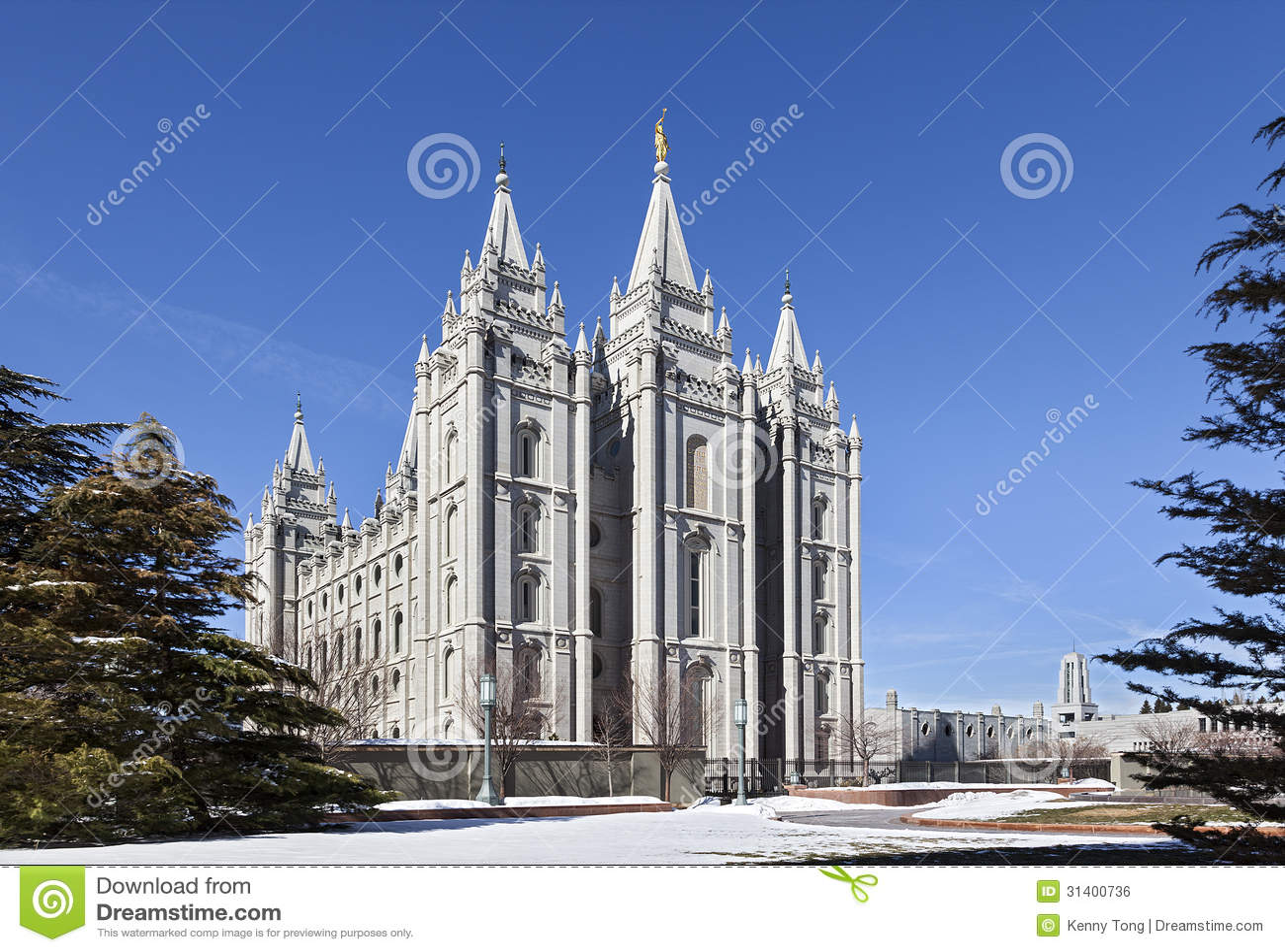 Mormonischer Tempel - der Salt Lake-Tempel, Utah
