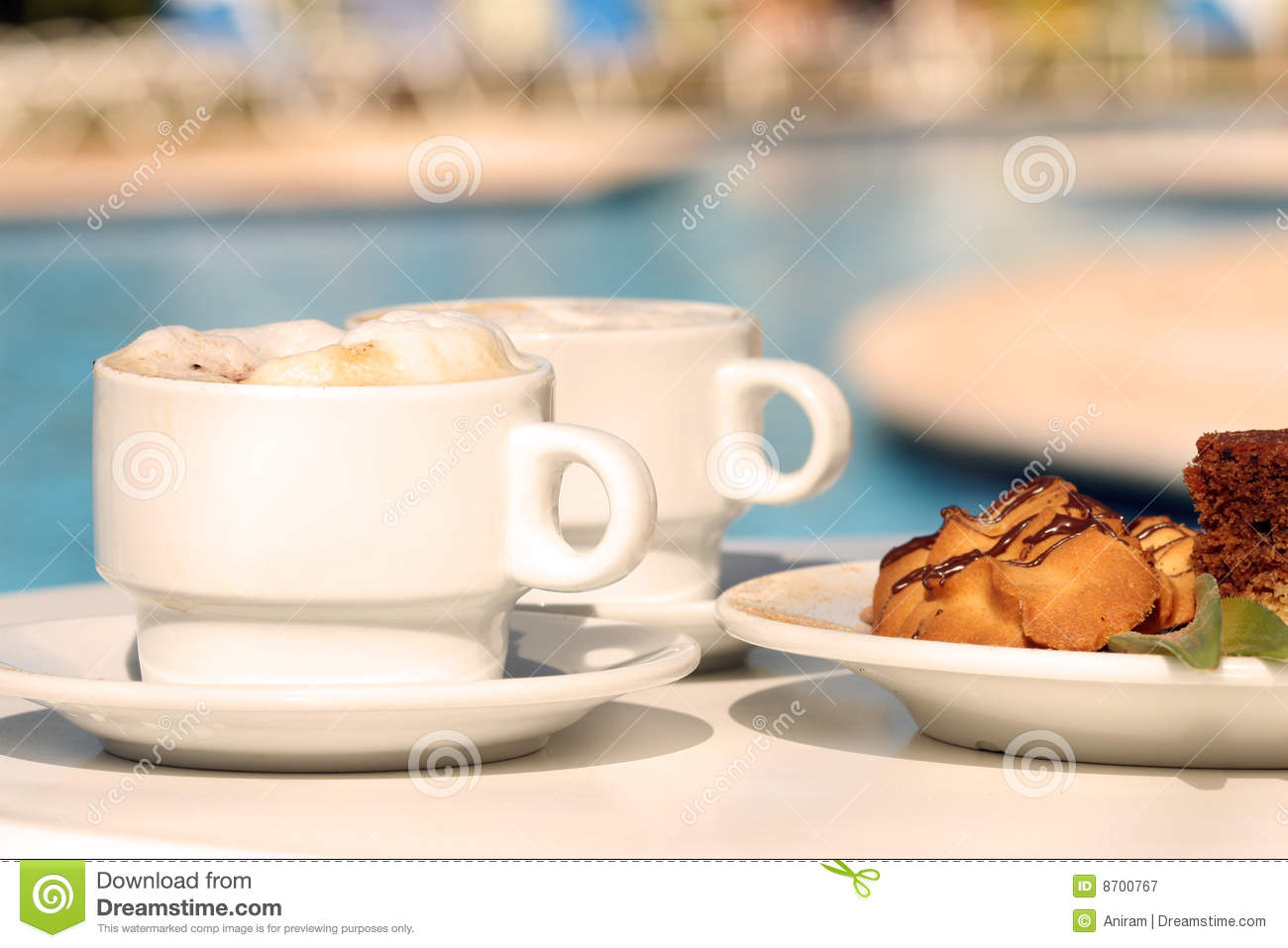 Morning Coffee With Biscuits Stock Image Image 8700767