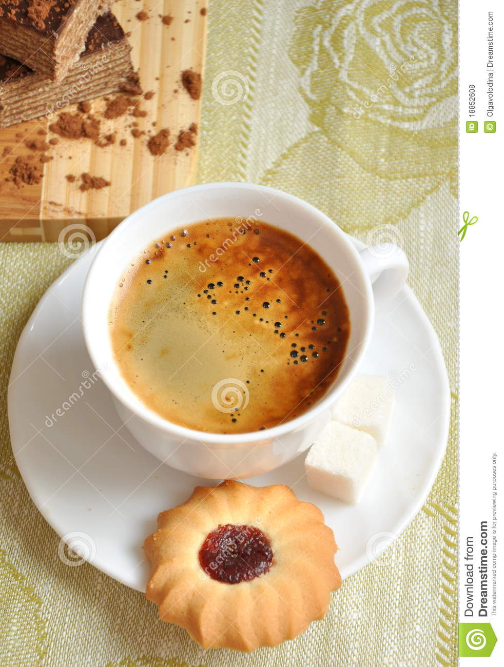 More similar stock images of morning coffee with biscuits and cake