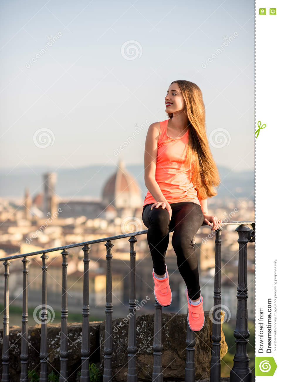 Morning exercise in Florence