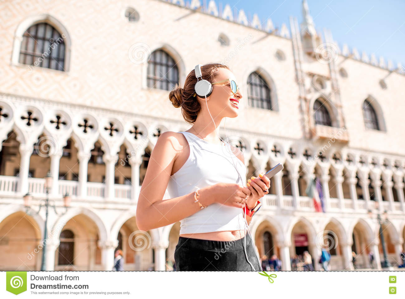 Morning exercise in the old town of Venice
