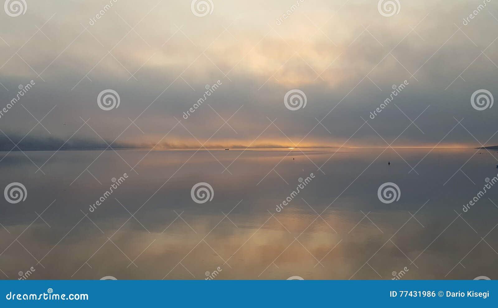 Morning fog in novalja