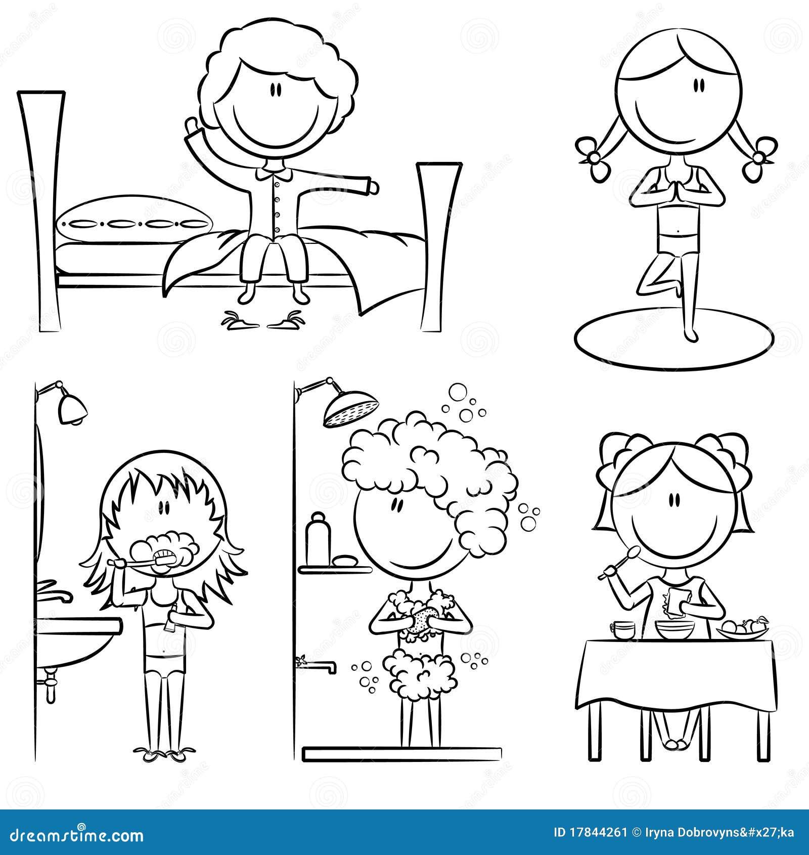 Daily Morning Girls Life Stock Image - Image: 17844261
