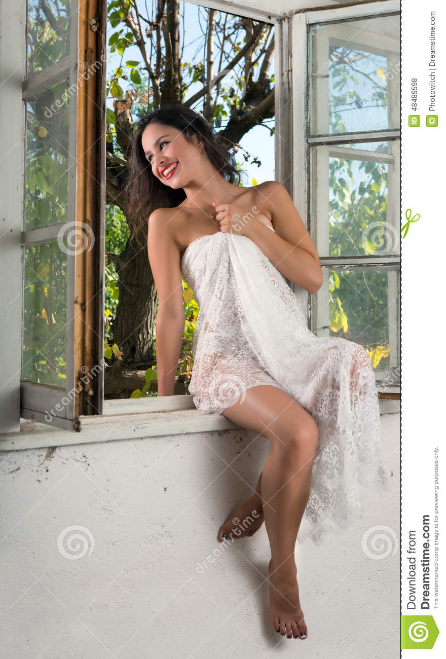 Morning laughter stock photo. Image of smile, sensuality ...