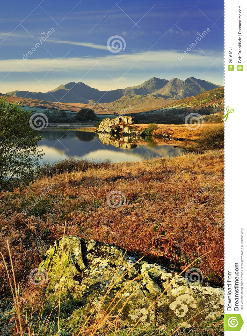 Morning light, Snowdon range, Wales