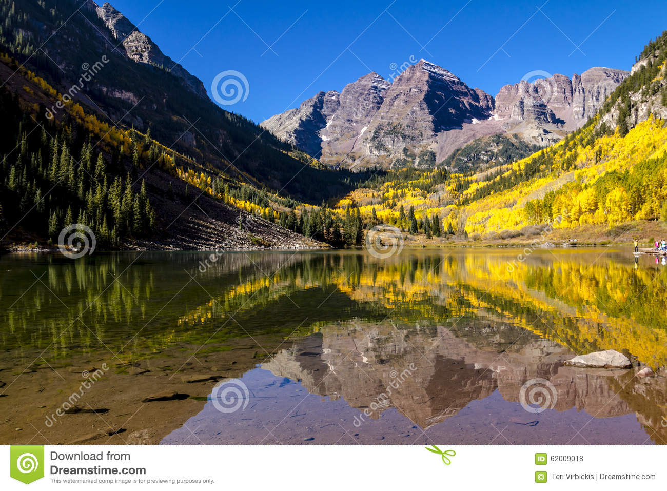 Morning At Maroon Bells Aspen Co Stock Photo Image Of
