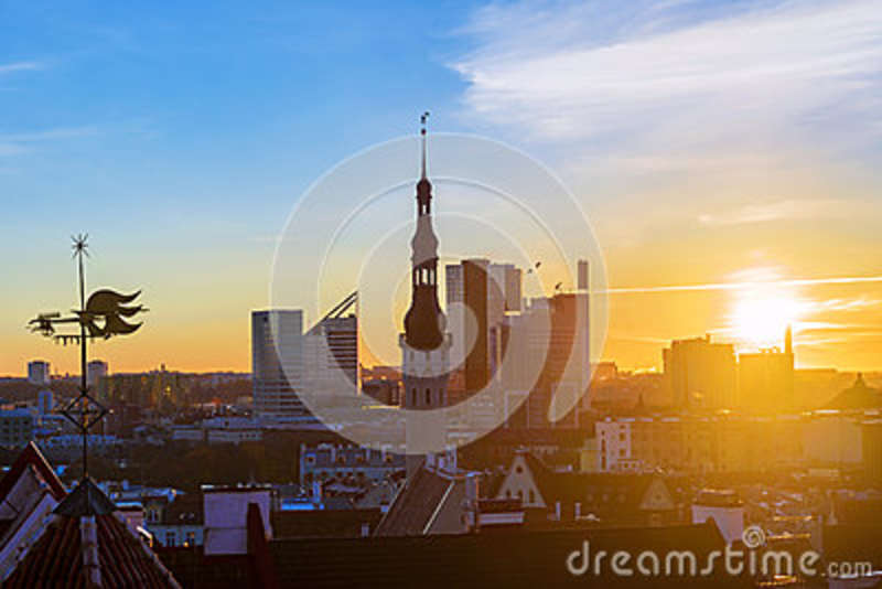 Morning panorama of Tallinn, Estonia