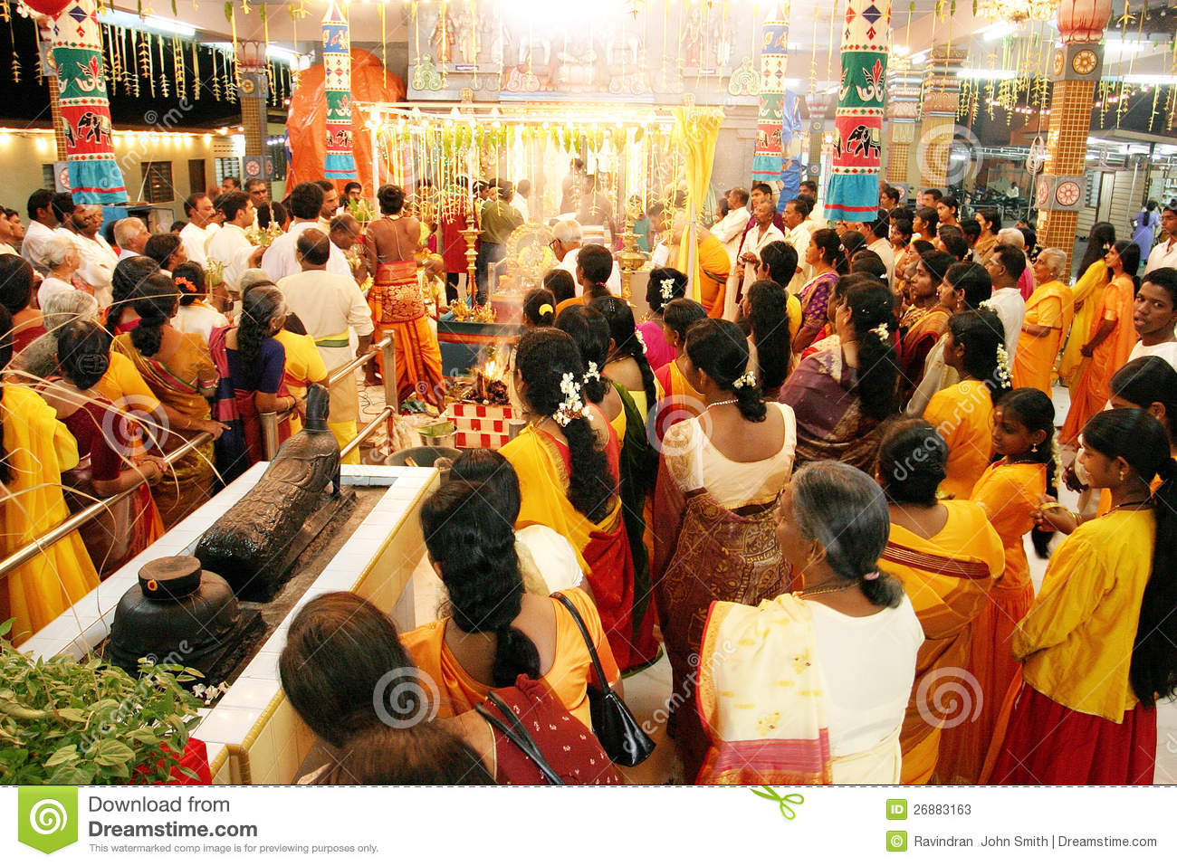 Morning Prayers In Hindu Temple Editorial Stock Photo ...