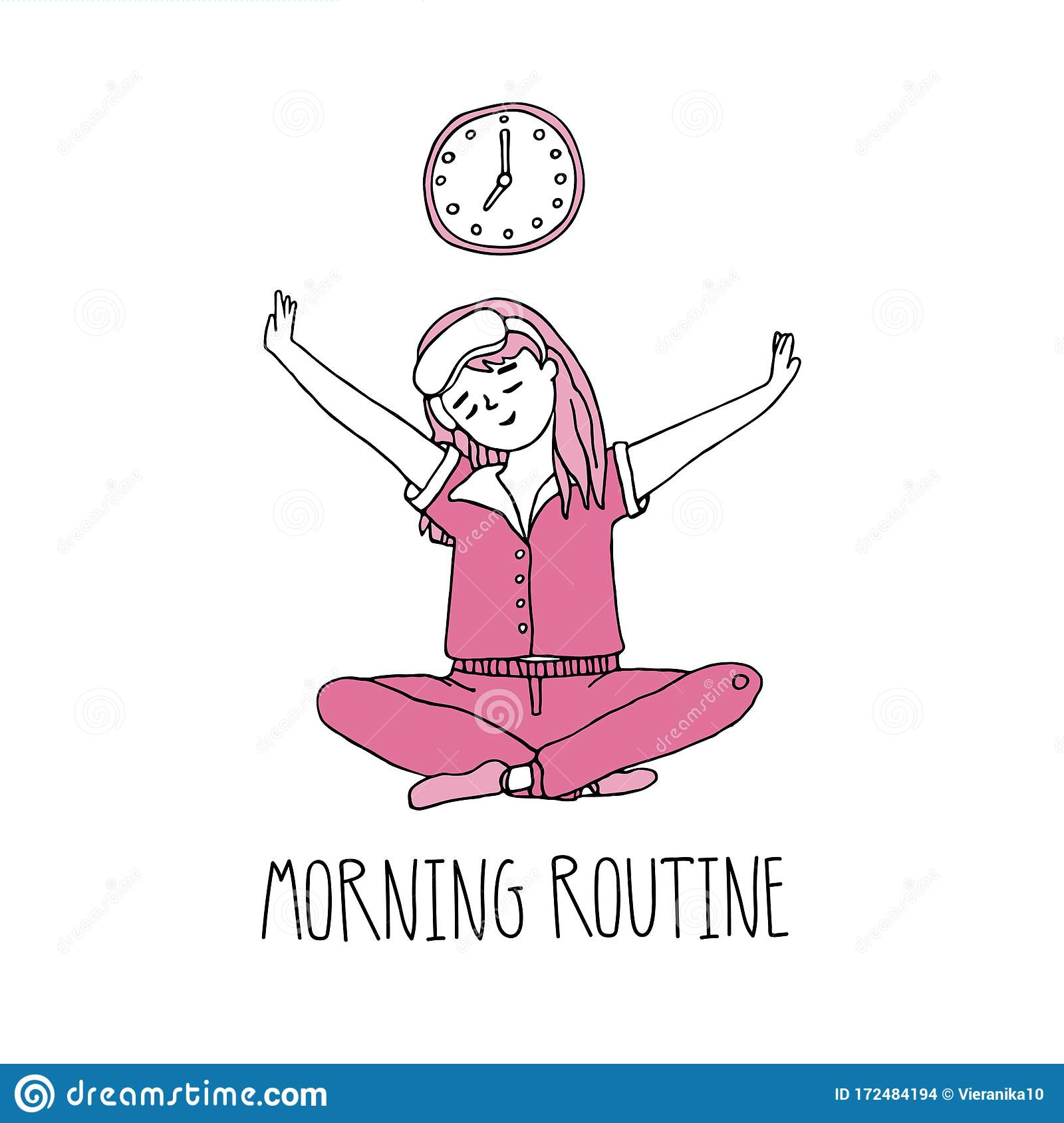 Morning Routine Concept Daily Morning Life Stock Vector Illustration Of Clean Lifestyle 172484194