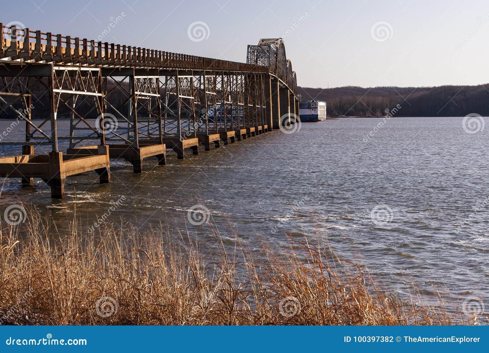 Eggner`s Ferry Bridge Collapse - Kentucky Lake, Kentucky