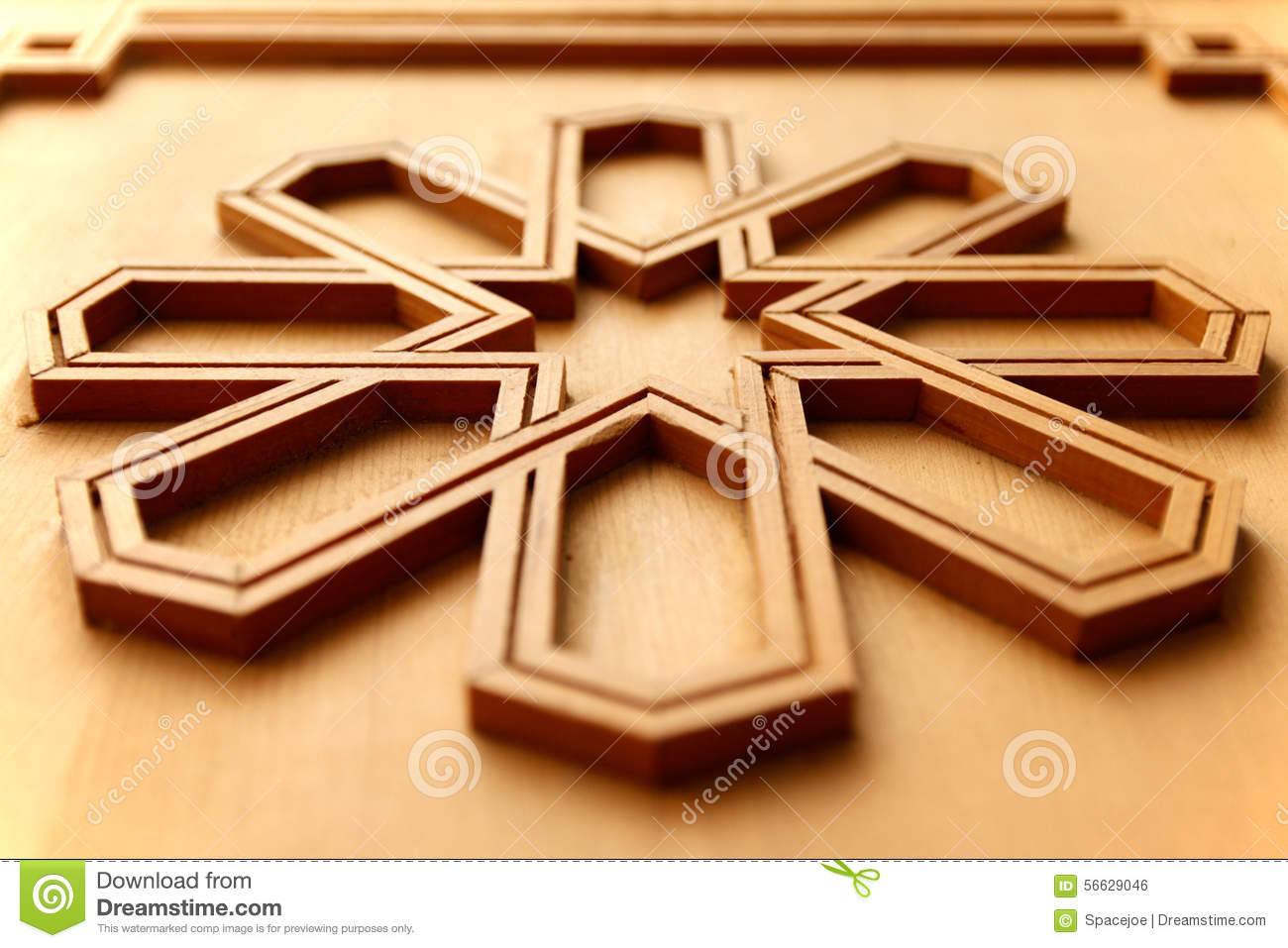 Moroccan Arabesque Carved Wood Panel Stock Photo - Image of pattern ...