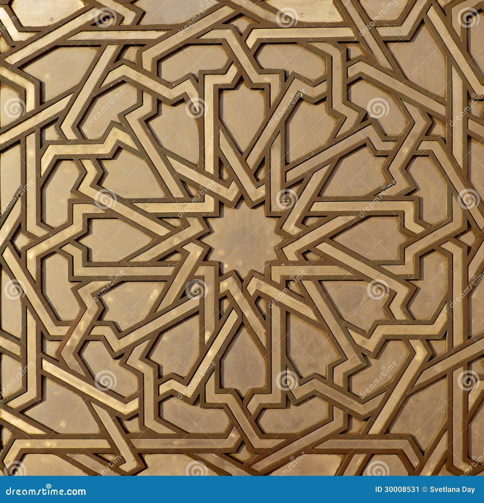 Moroccan Metal Arabesque Stock Image