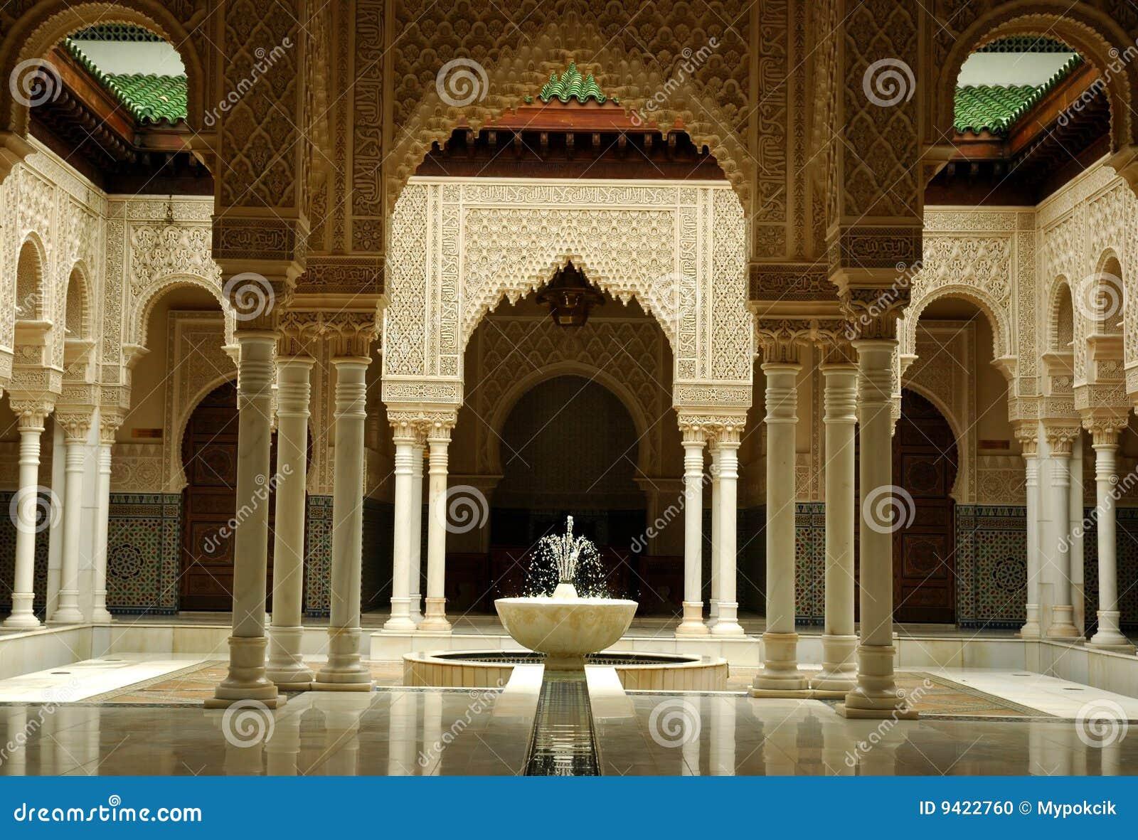 moroccan architecture interior stock photo - image: 9422760