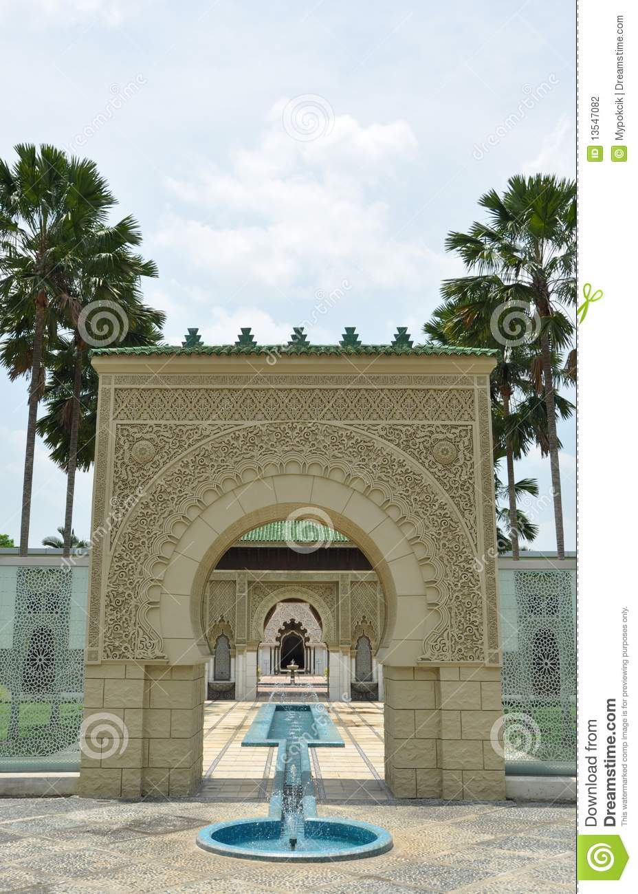 Architecture Photography Malaysia moroccan architecture in putrajaya, malaysia stock photography