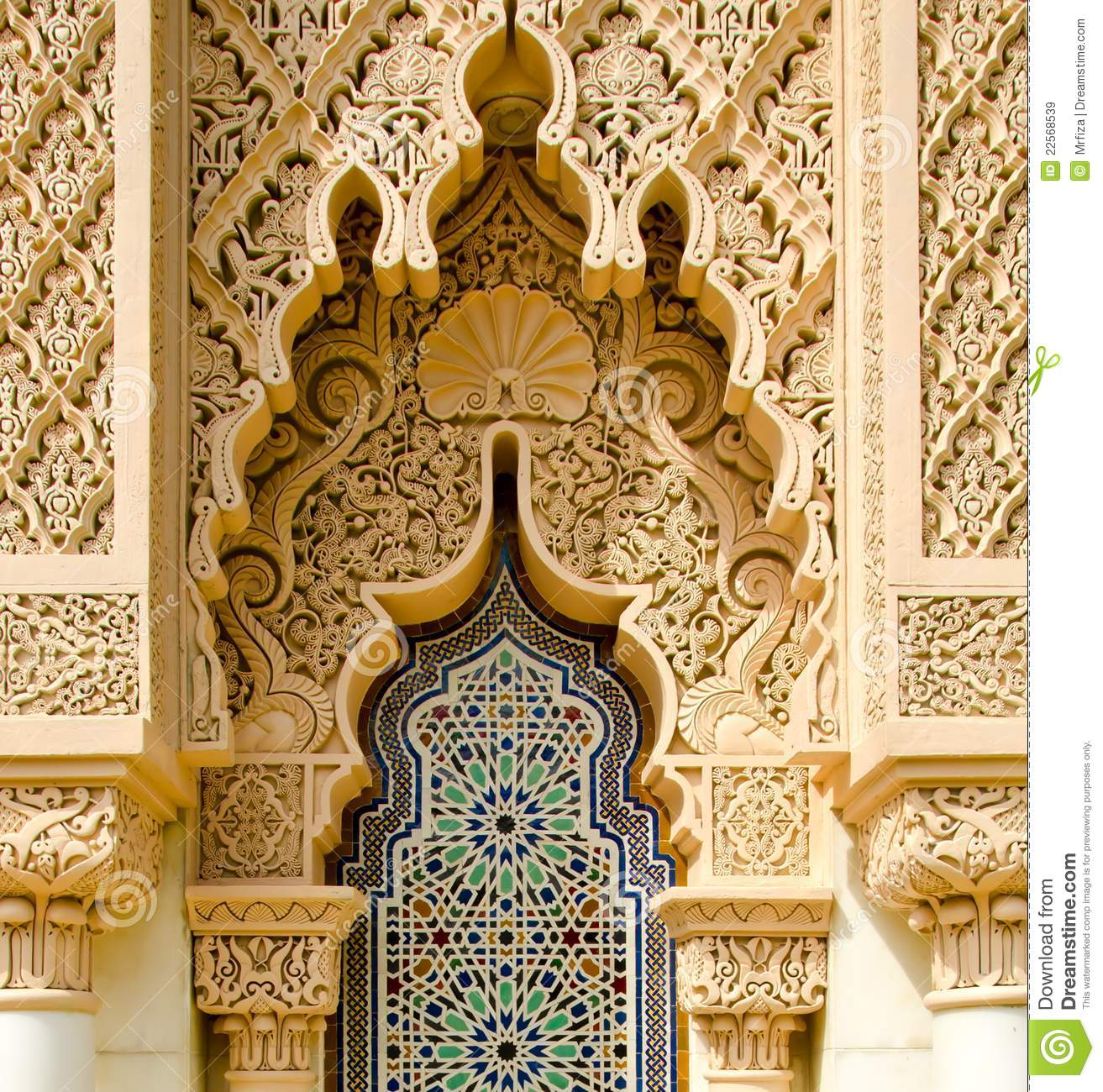 Moroccan Architecture Traditional Stock Image Image