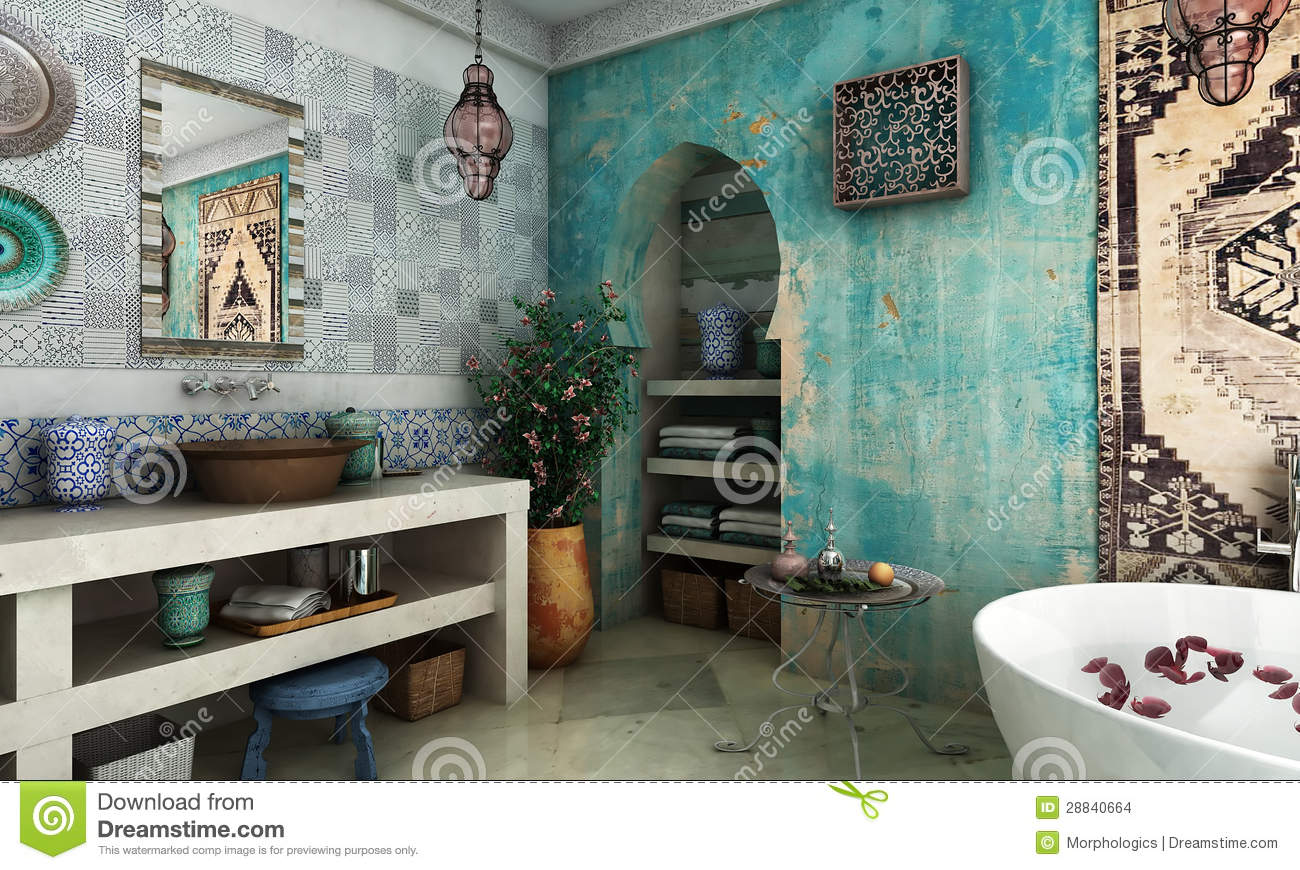 moroccan bathroom stock photo image of carpet kettle. Black Bedroom Furniture Sets. Home Design Ideas