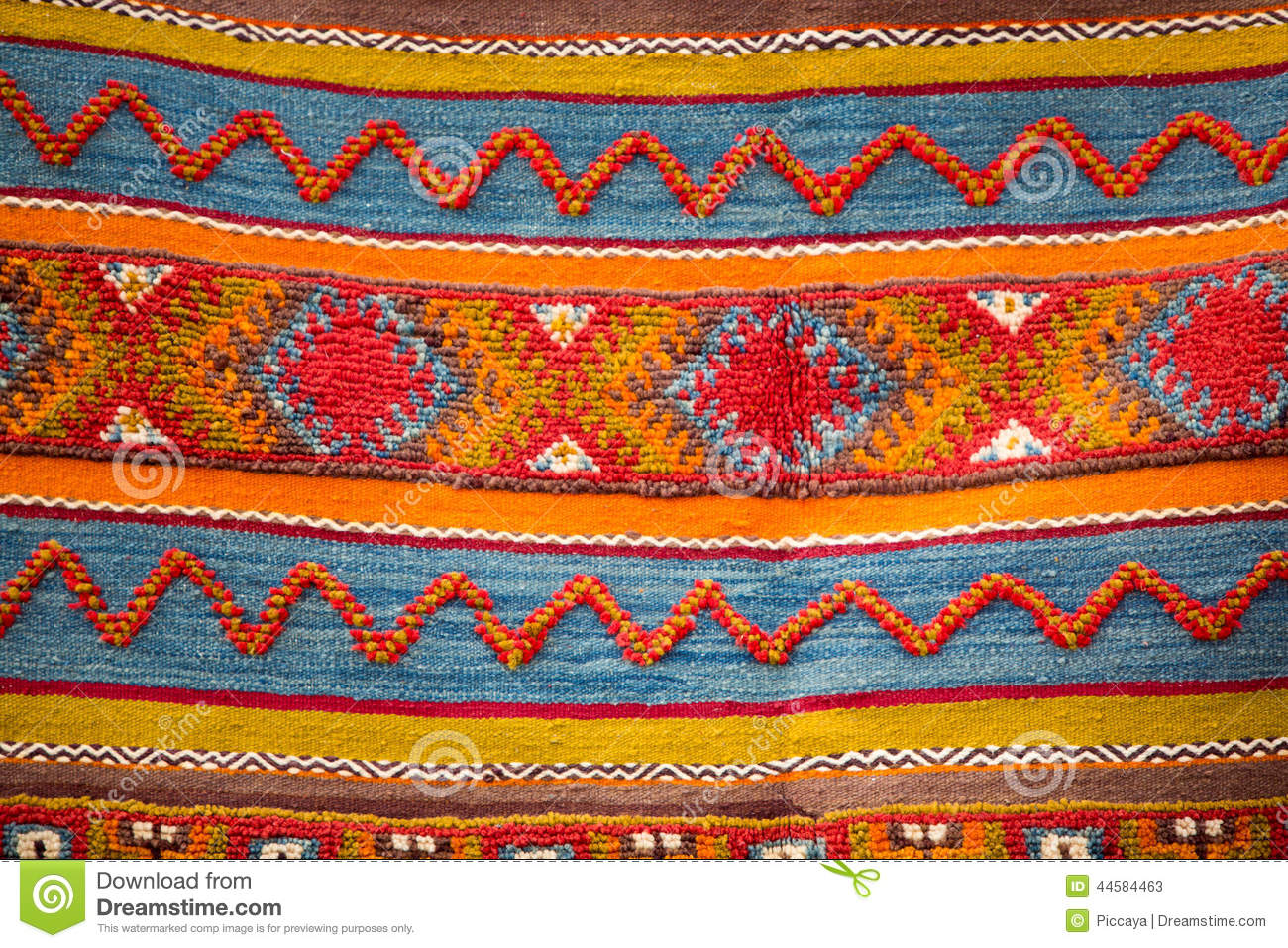 Moroccan Berber Carpet Background Stock Photo - Image ...