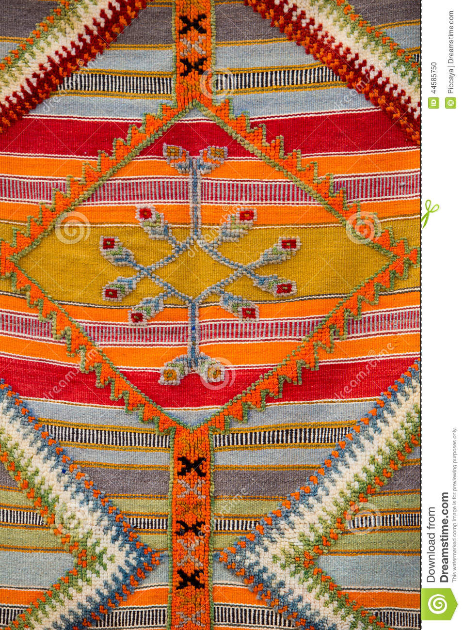 Moroccan Berber Carpet Background Stock Photo Image