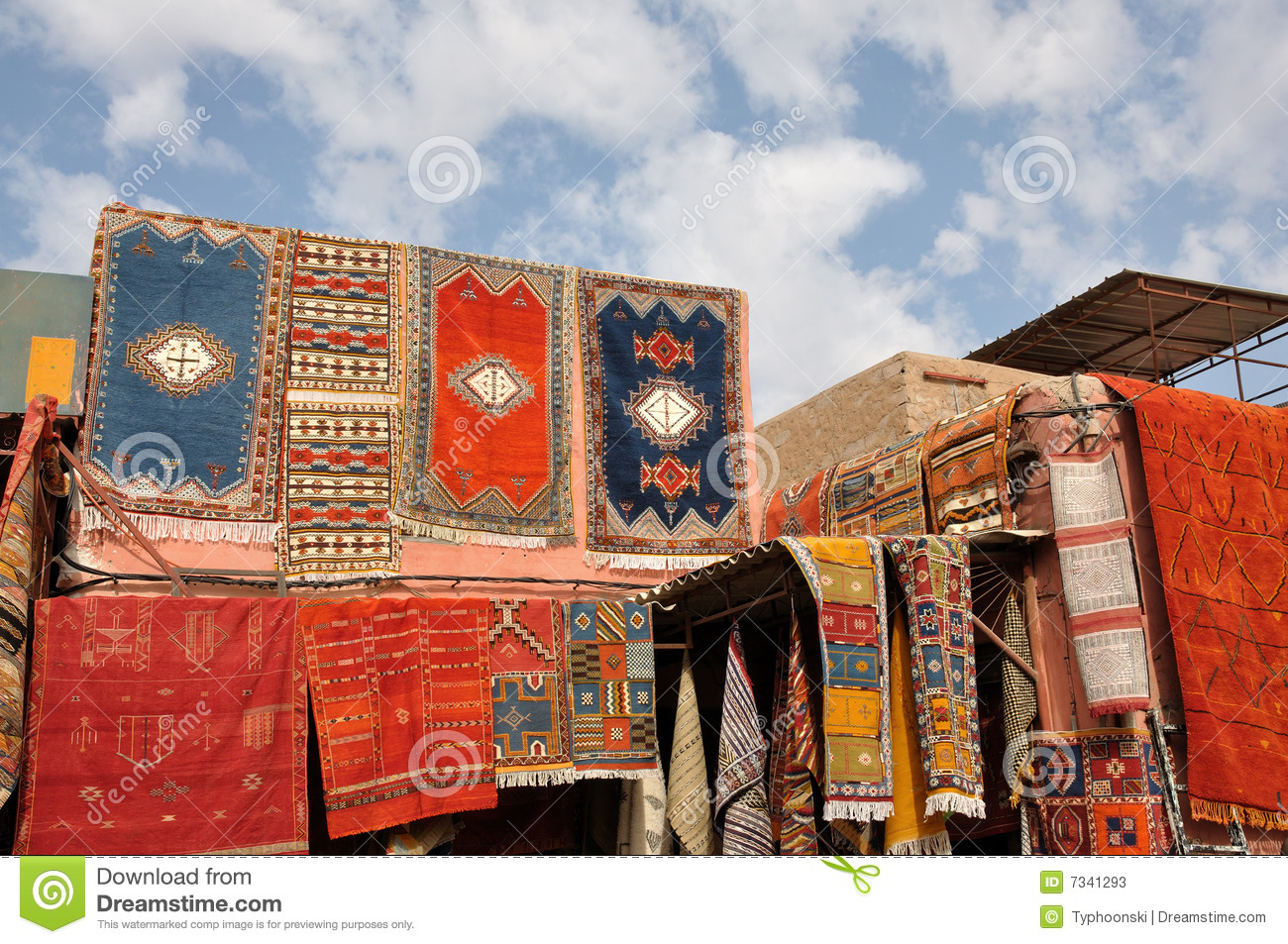 Moroccan Carpets For Sale Stock Photos  Image 7341293