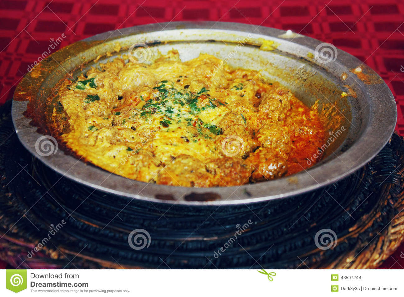 Moroccan cuisine patties with egg omlette stock photo for Authentic moroccan cuisine