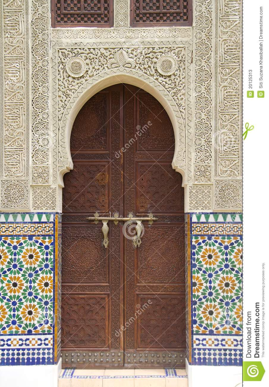 Moroccan Door Stock Photos Image 20125313