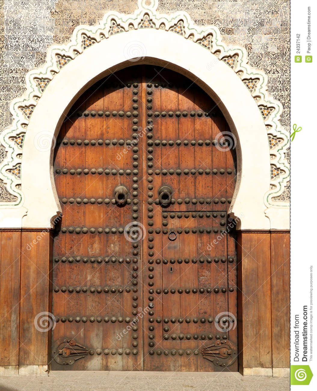 Moroccan Door Stock Photo Image Of Arabic Heritage
