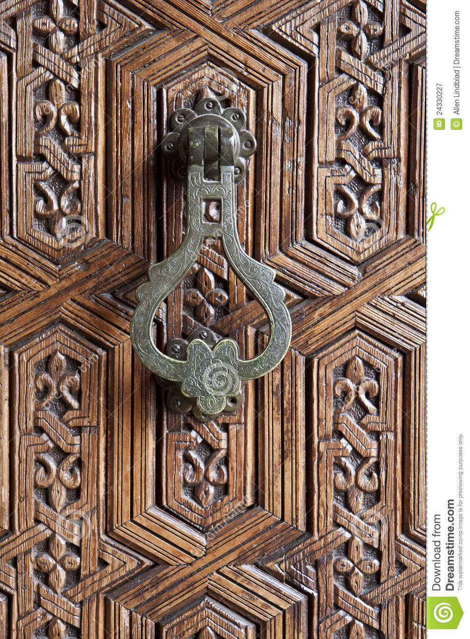 Moroccan Door Knocker Royalty Free Stock Photography