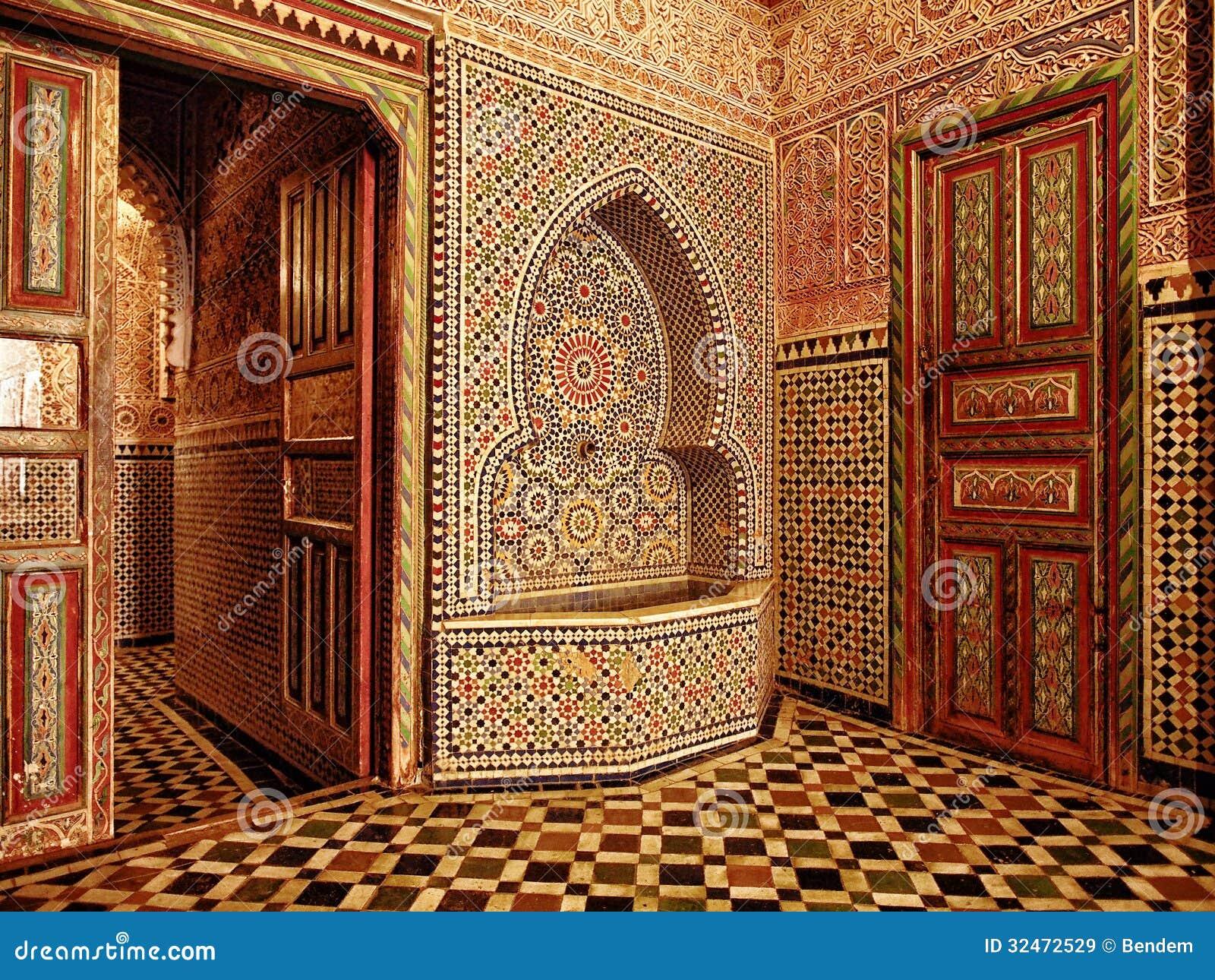 moroccan doorway entrance stock image image of arabic