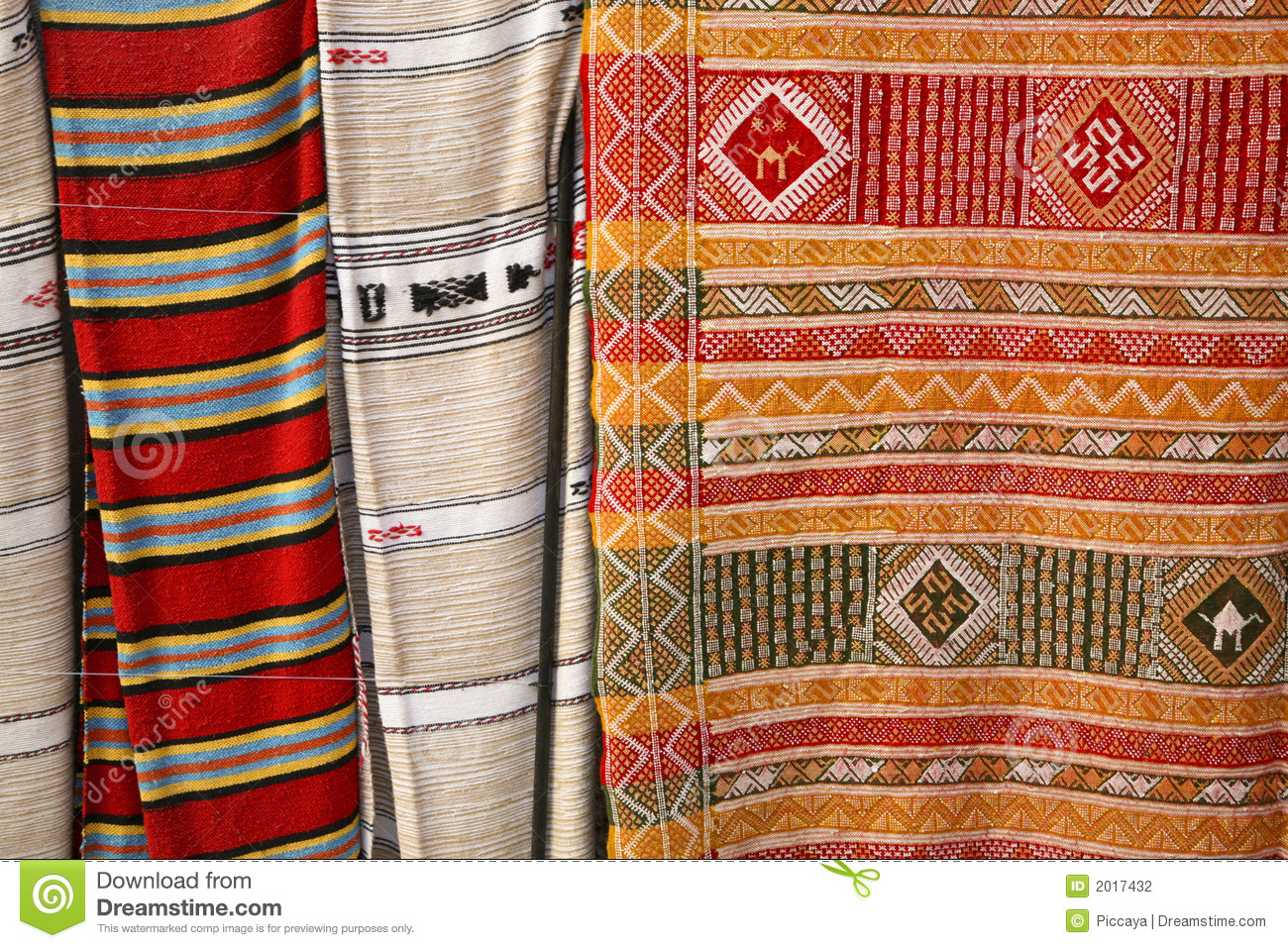 Moroccan Fabrics Stock Photography Image 2017432