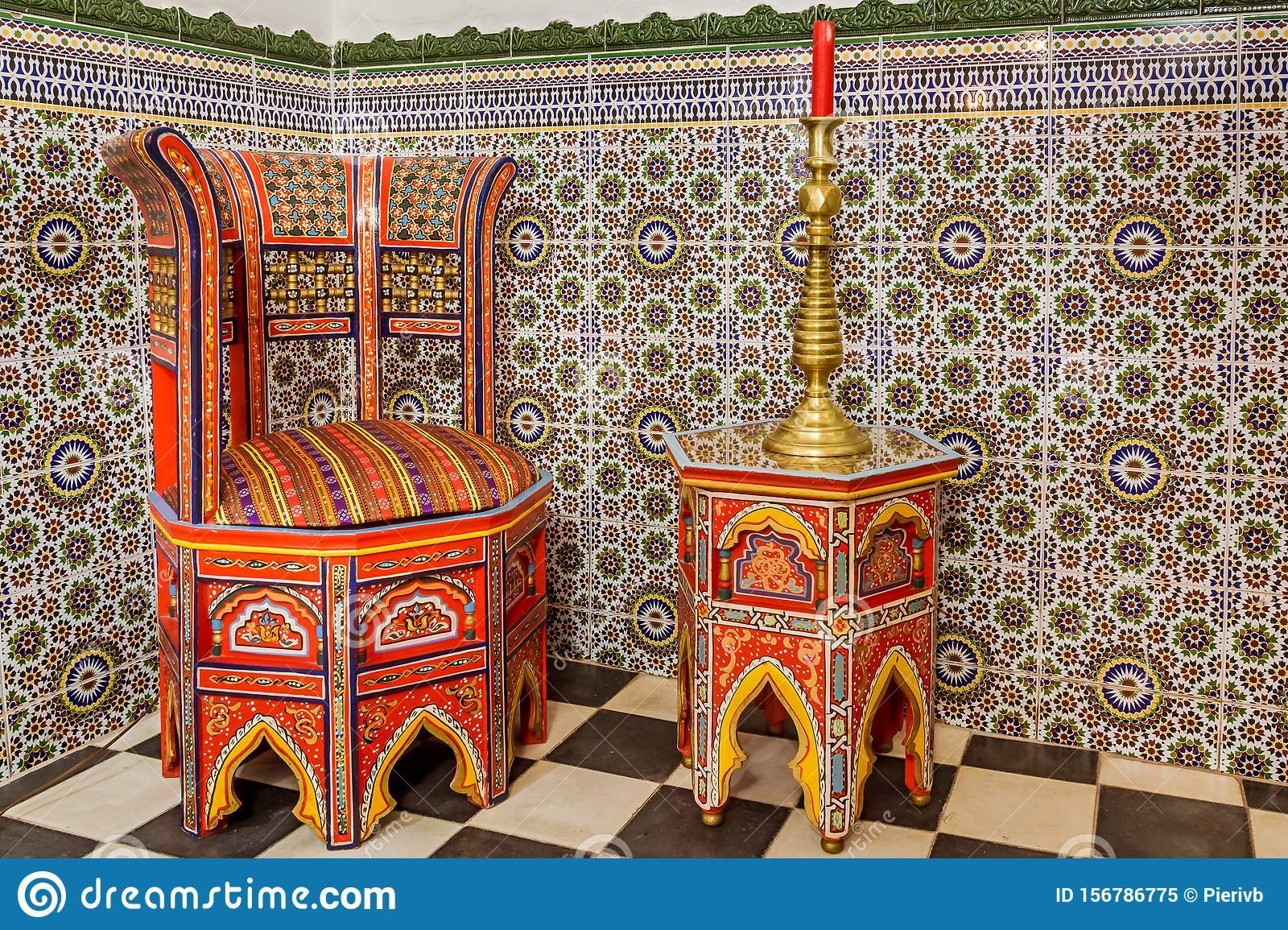 Moroccan furniture stock image. Image of carved, antique - 10