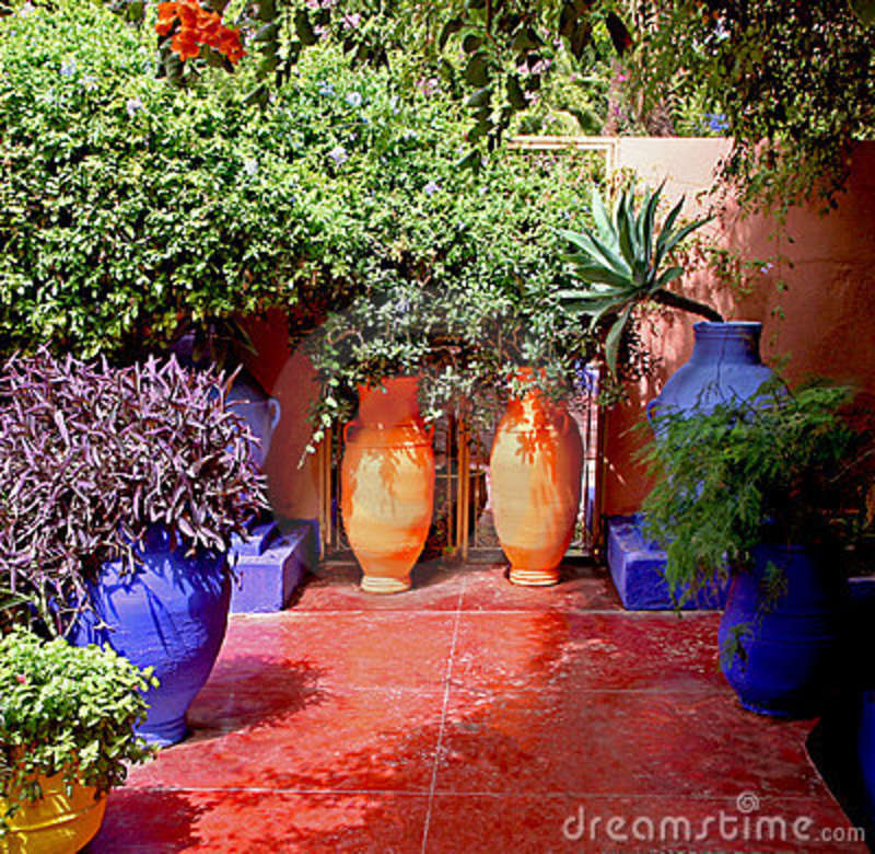 Moroccan Garden Stock Photos Image 13347323