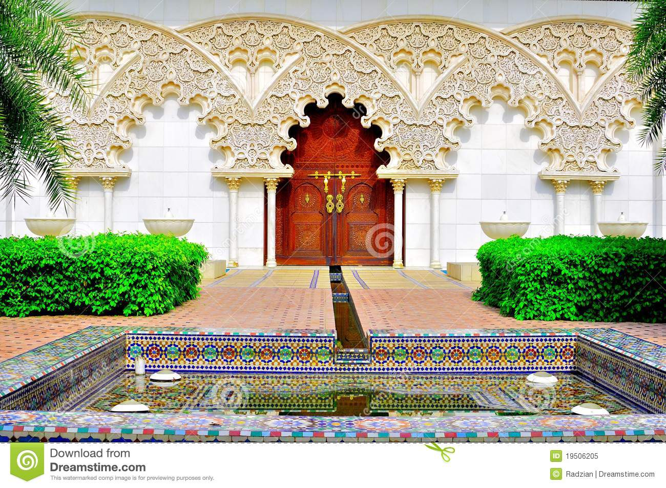 Garden gate plans - Moroccan Garden And Architecture Royalty Free Stock Photo