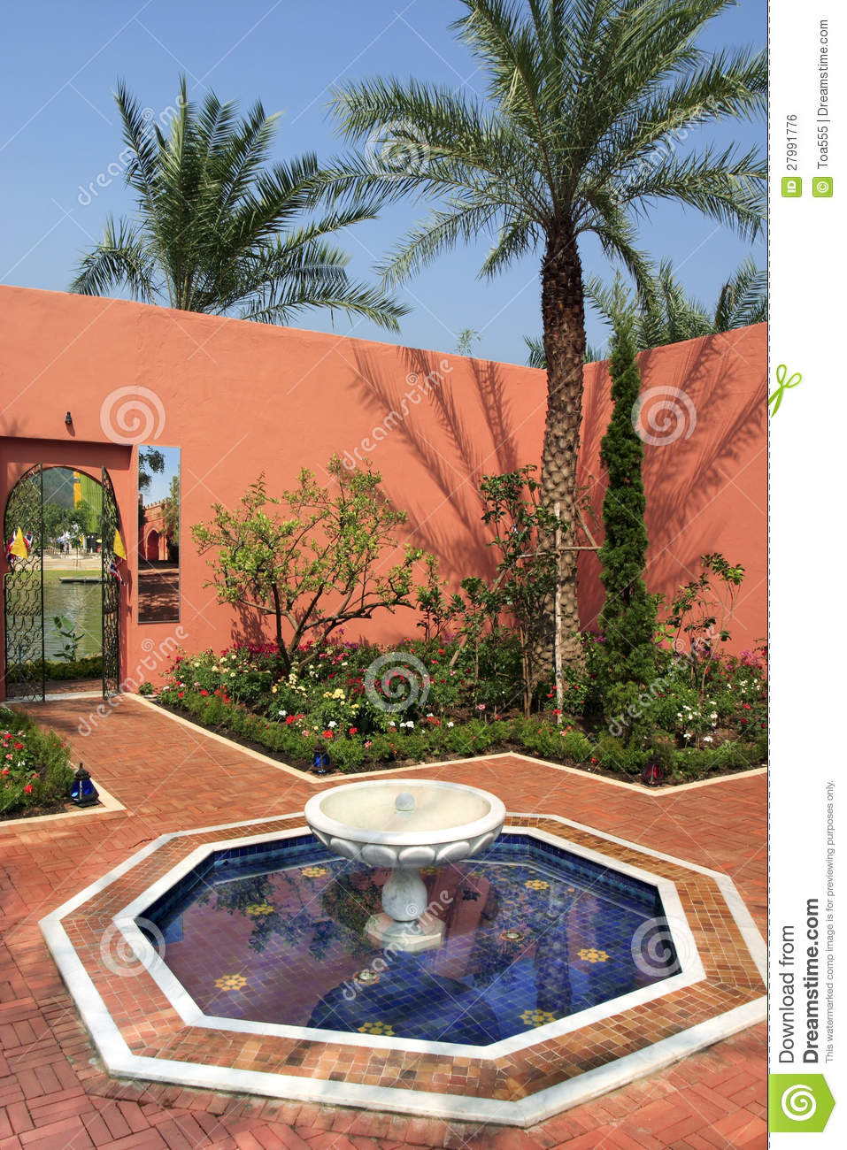 Moroccan Garden Style Stock Photo Image Of Building 27991776
