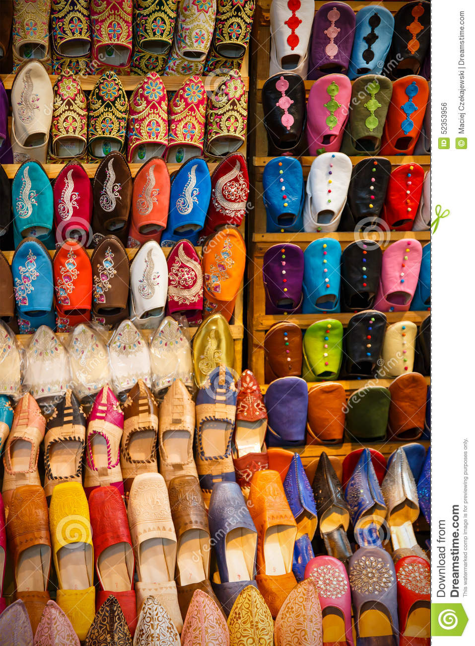 19ebaaca6599 Moroccan leather shoes stock photo. Image of many