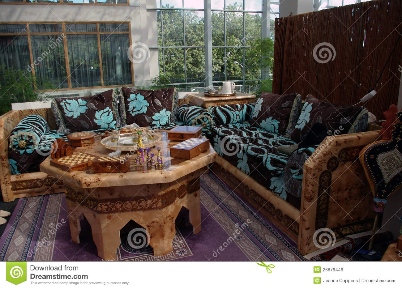 Moroccan Living Room moroccan living room interior royalty free stock images - image